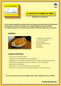 Recette 7 Le Gratin de Pommes de Terre