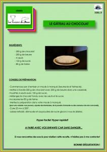 Recette 14 Le Gâteau au Chocolat